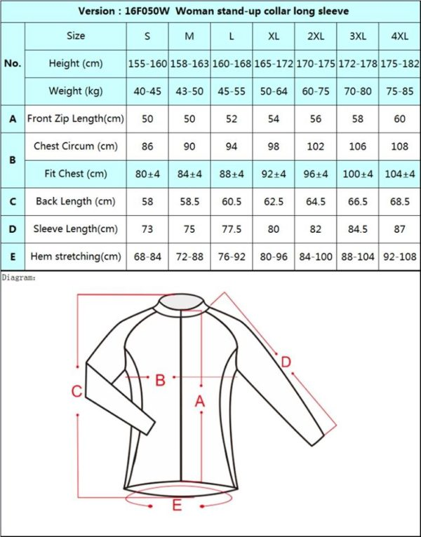 Cycle Jersey Women Thermal