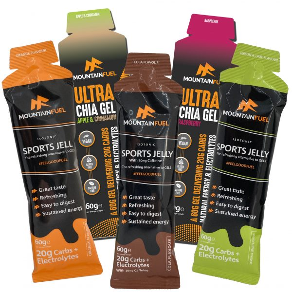 Sports jelly and Ultra Chia Gel
